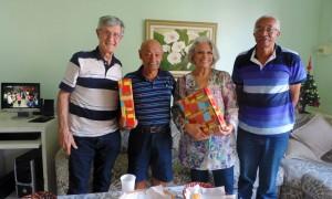 Aniversariantes são homenageados na associação