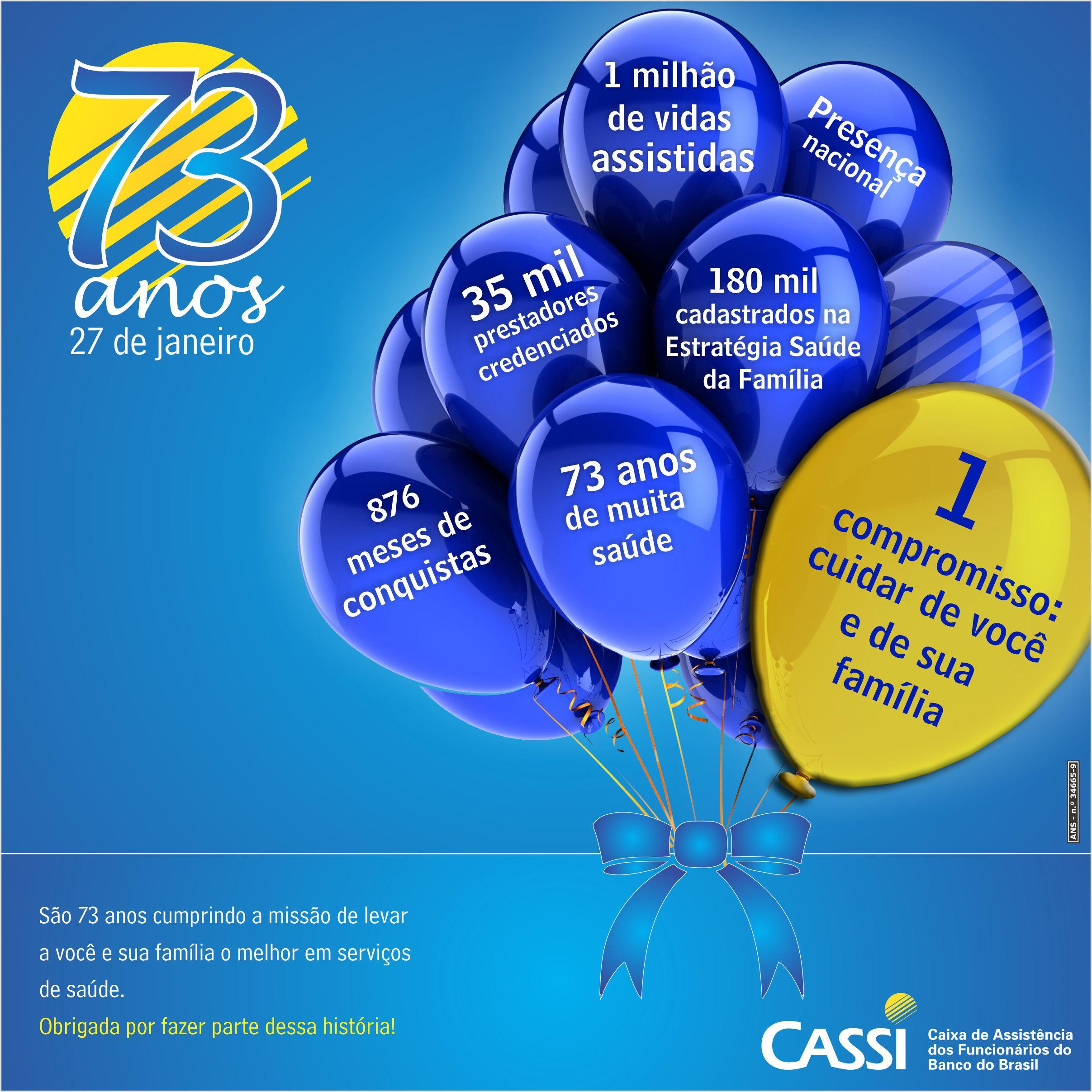 Aniversário 73 anos da CASSI